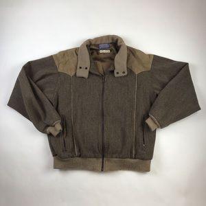 Pendleton Mens Jacket Gray  100% Virgin Wool L